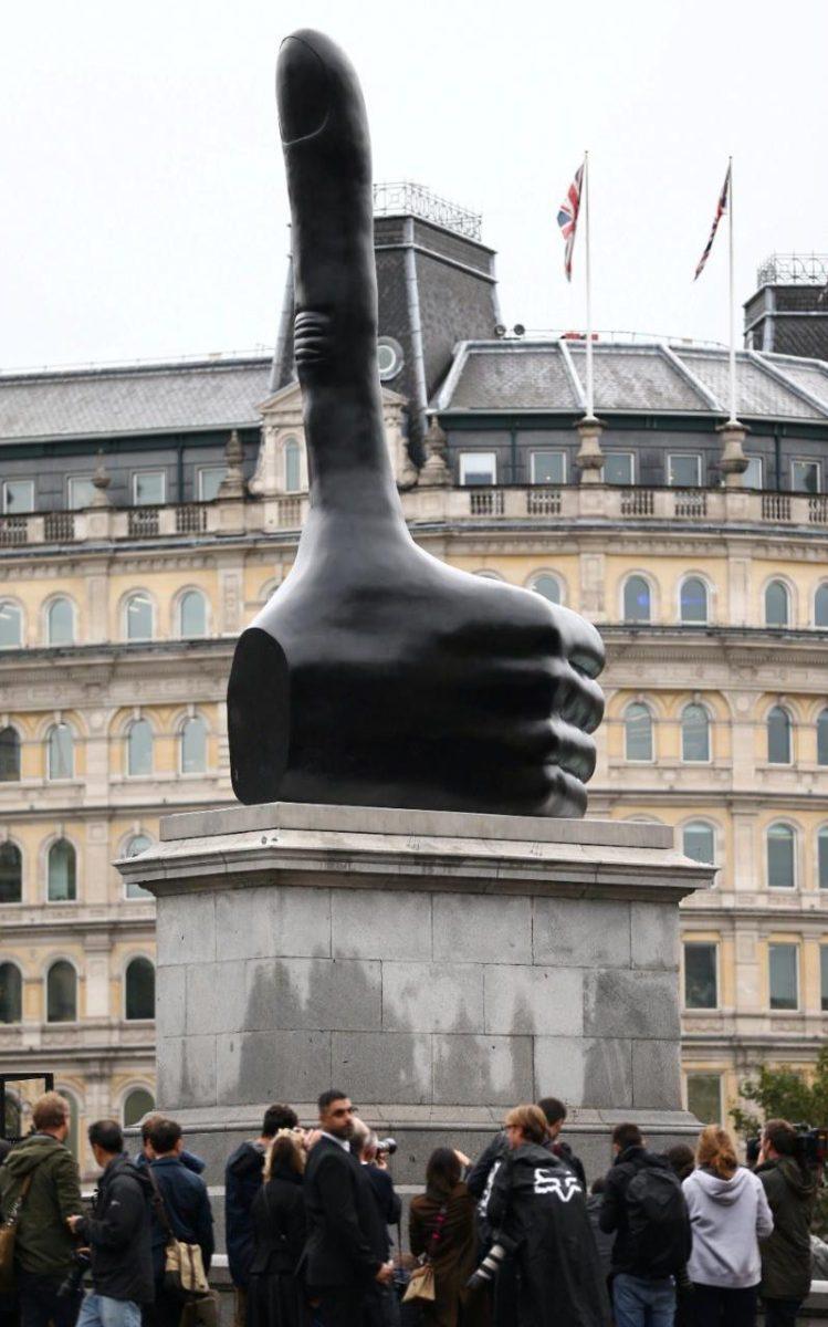 В центре Лондона появилась необычная скульптура