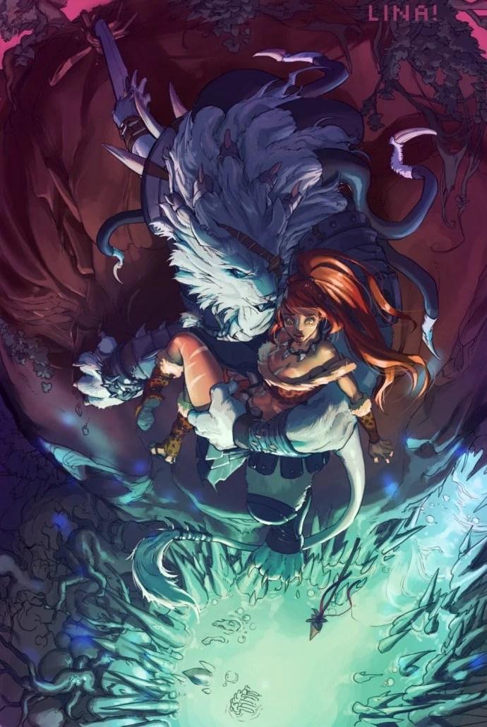 Anime Girl Deviantart Wallpaper Rengar And Nidalee League Of Legends Fan Art Art Of Lol