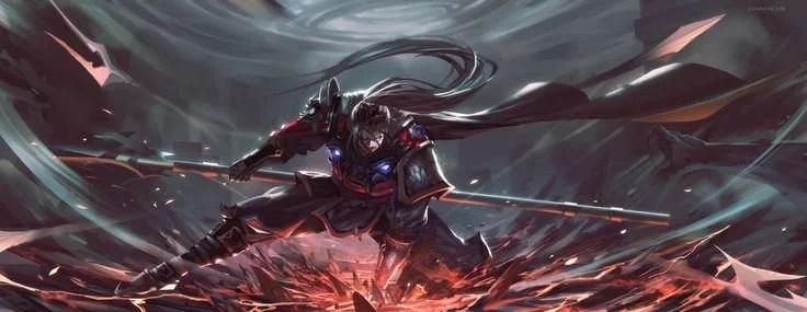 Ezreal Hd Wallpaper Xin Zhao League Of Legends Fan Art Art Of Lol