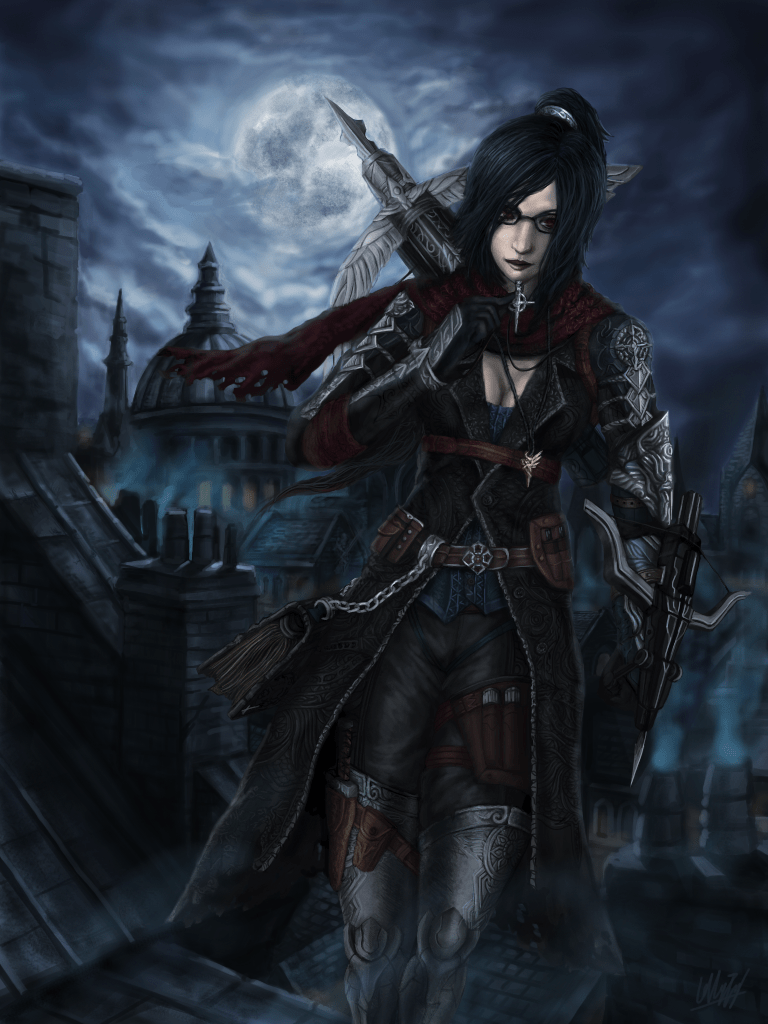 Free 3d Horror Wallpapers Vayne Fan Art League Of Legends Fan Art Art Of Lol