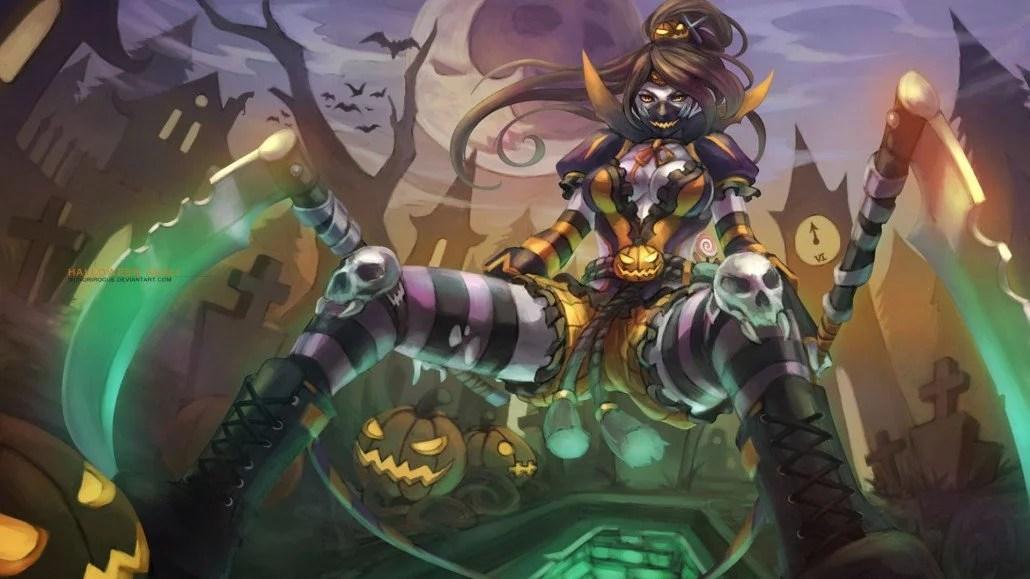 Lol Champions Wallpaper Hd Halloween Akali League Of Legends Wallpapers Art Of Lol