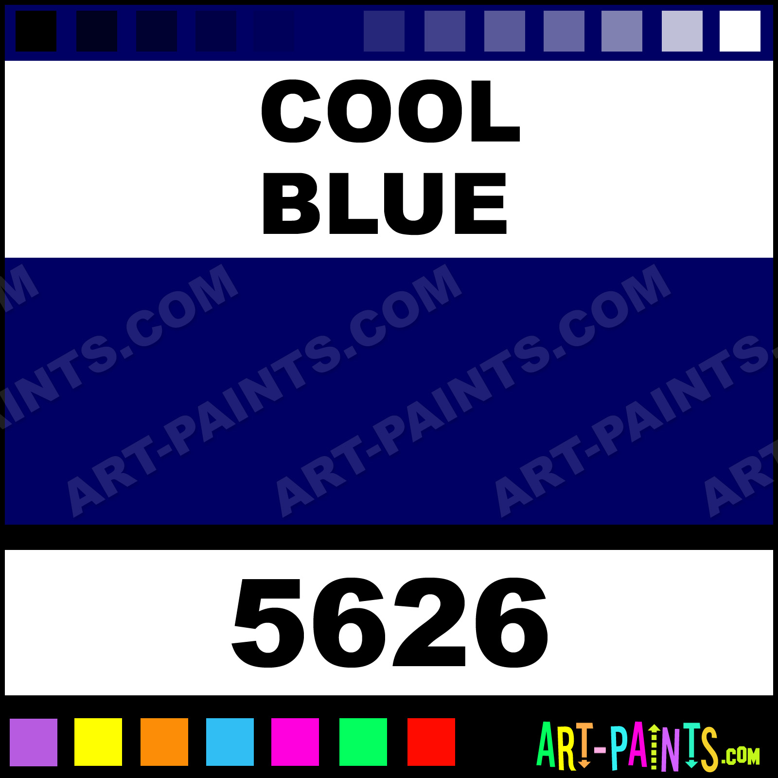 Cool Blue Paint Cool Blue School Acrylic Paints 5626 Cool Blue Paint Cool