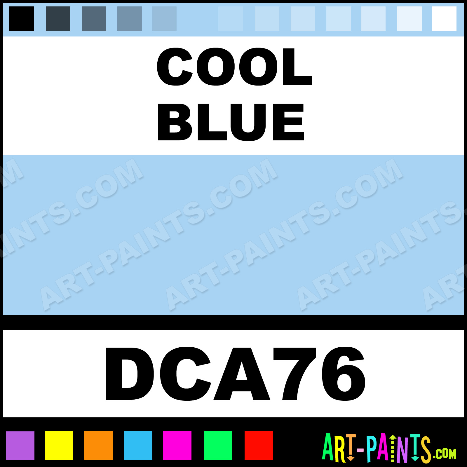 Cool Blue Paint Cool Blue Crafters Foam And Styrofoam Paints Dca76 Cool Blue