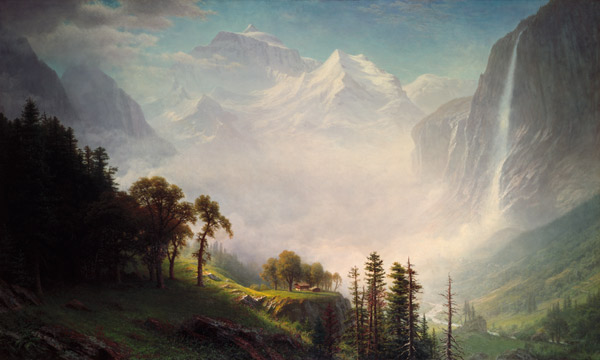 Painting Picture Frames With Acrylic Majesty Of The Mountains - Albert Bierstadt As Art Print