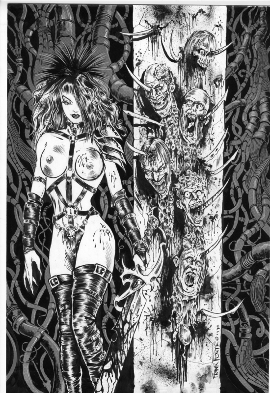 Head Hunter- NUDITY NSFW, in Frank Forte\u0027s Pin-Ups Comic Art Gallery
