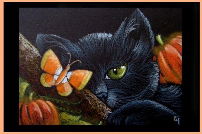 Glitter Animal Print Wallpaper Black Cat 178 Halloween By Cyra R Cancel From