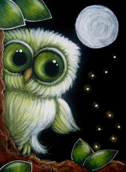 Cute Drawing Wallpaper Fantasy Owl Met The Fireflies By Cyra R Cancel From