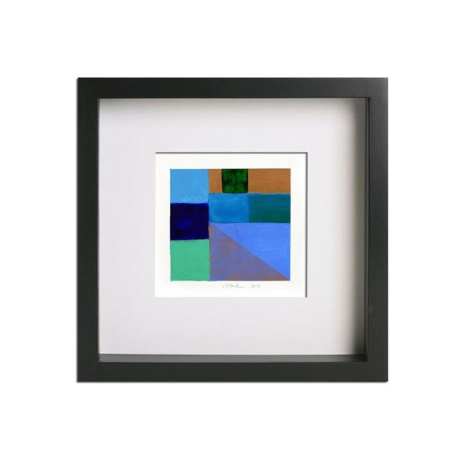 Geometric Study Blue, Green and Gold - Private Collection - by