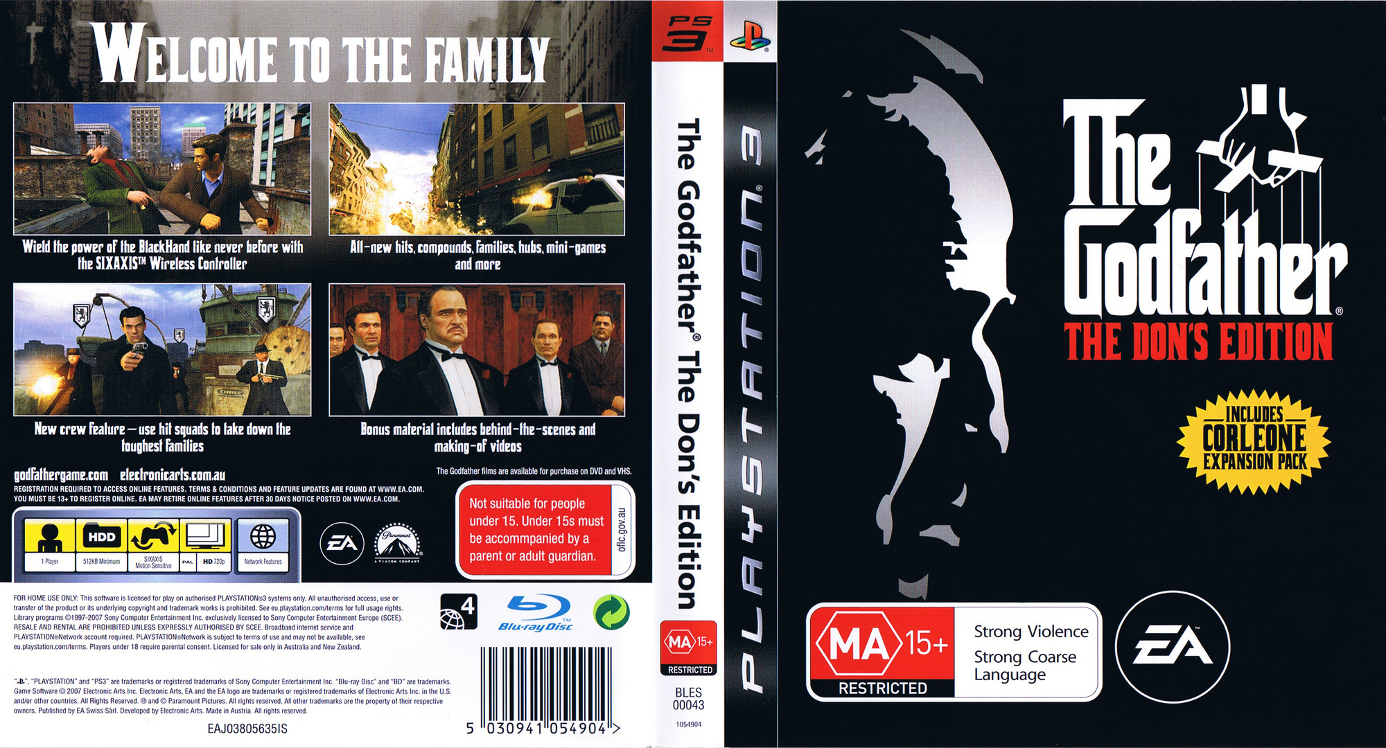Edition For Ps3 Bles00043 The Godfather The Don S Edition