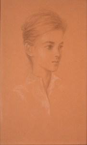 Sabine de Fouquières, crayon sur papier, ca. 1959