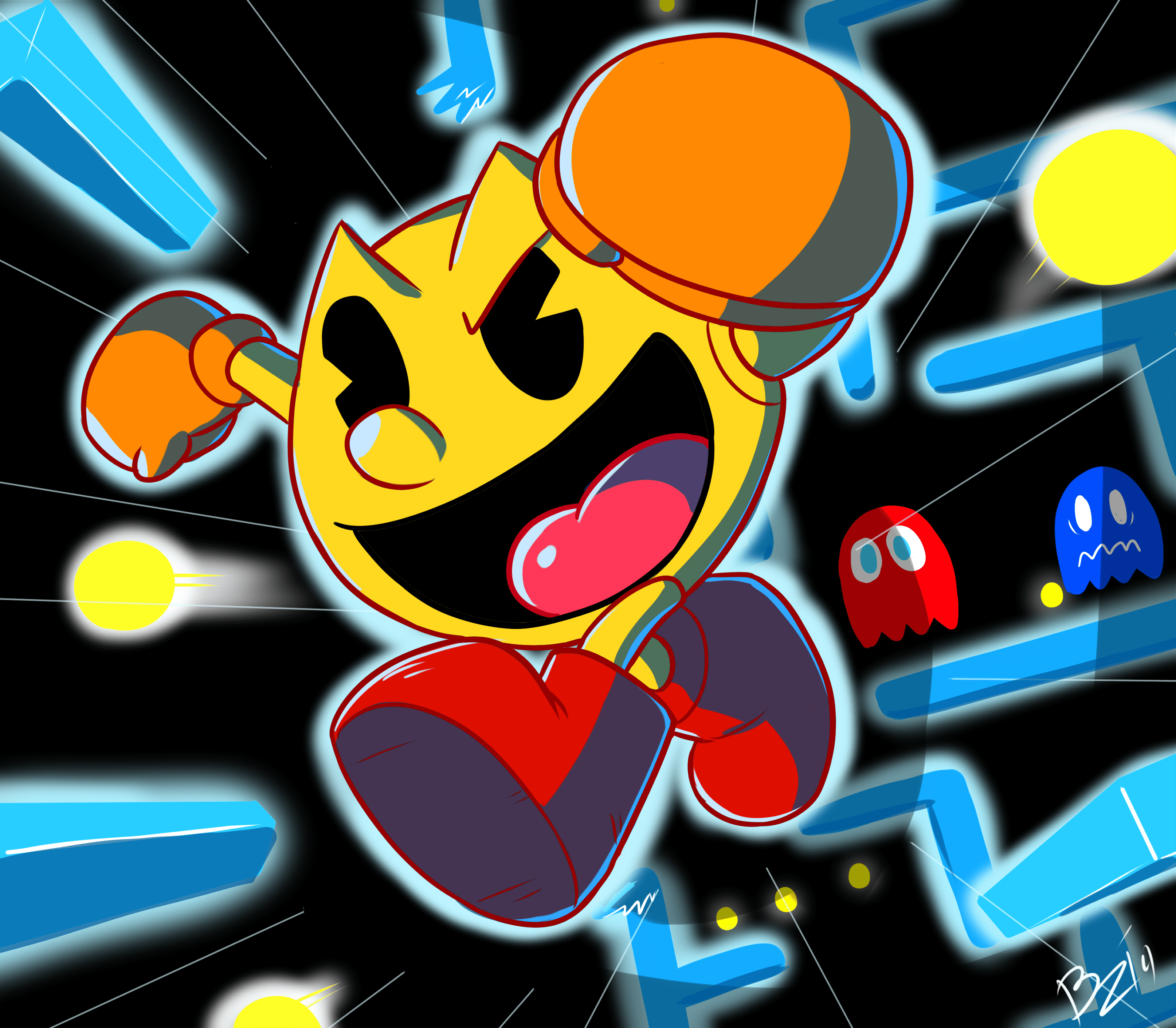 Mario 3d Wallpaper Pacman Smash By Ztoons On Newgrounds