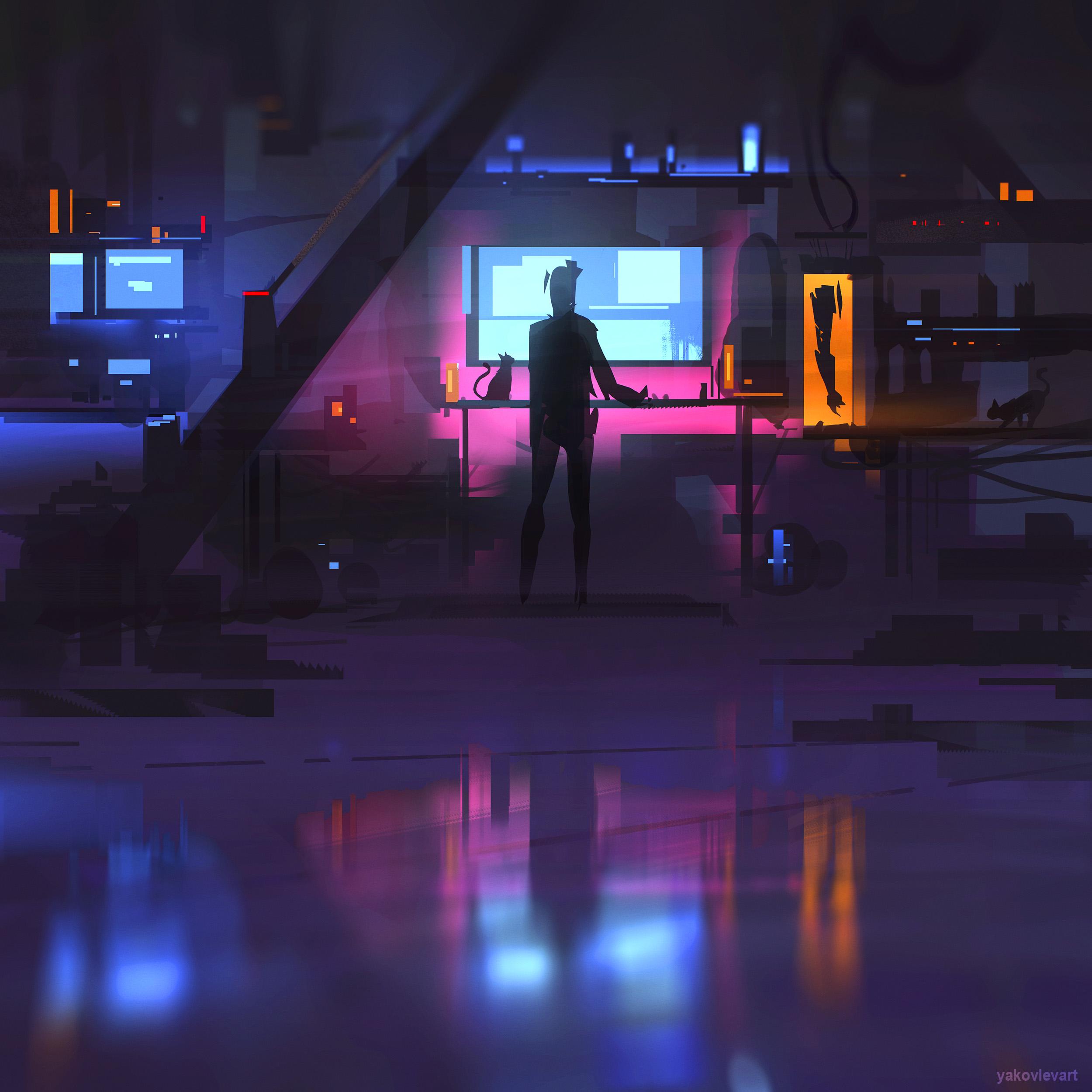 Anime Girl Wallpaper Hd Sci Fi Office By Yakovlevart On Newgrounds