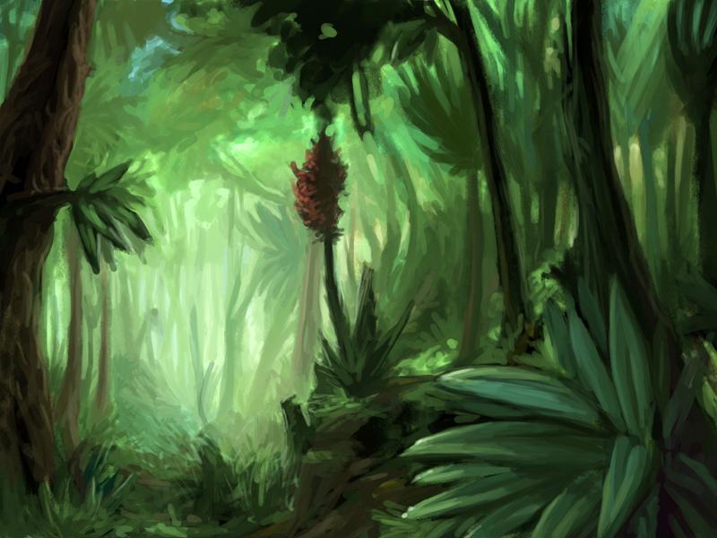 Fall Forest Hd Wallpaper Wda Prehistoric Jungle By Katatafisch On Newgrounds