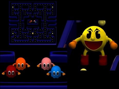 New Year Wallpapers 3d 3d Pac Man Level By Mario644 On Newgrounds
