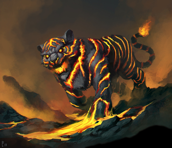 Fantasy Girl Art Wallpaper Lava Tiger By Artdeepmind On Newgrounds