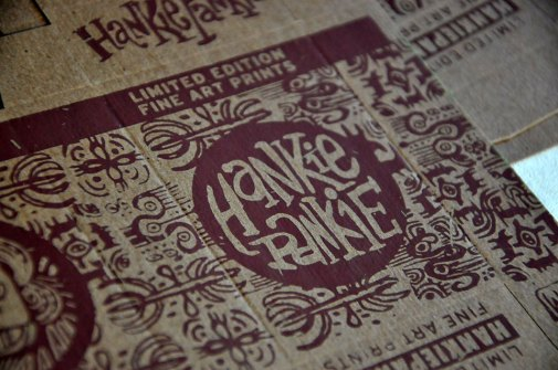 handprinted HankiePankie boxes