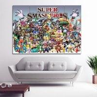 Super Smash Bros Block Giant Wall Art Poster