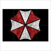 Umbrella Corporation Resident Evil Block Giant Wall Art Poster