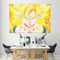 Goku Dragon Ball Z Block Giant Wall Art Poster