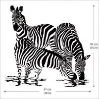 Large Animals Zebras Vinyl Wall Art Decal