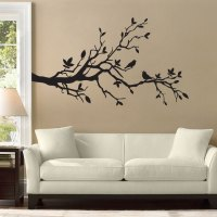 Birds on Cherry Blossom Branch Vinyl Wall Art Decal