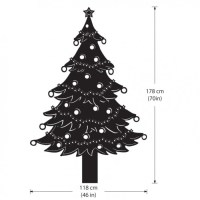 Christmas Tree Lights Vinyl Wall Art Decal