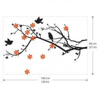 Cherry Blossom with Birds Vinyl Wall Art Decal