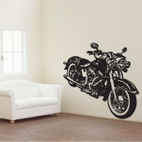 Motorcycle Vector Graphic Vinyl Wall Art Decal