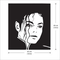 Michael Jackson King of Pop Vinyl Wall Art Decal