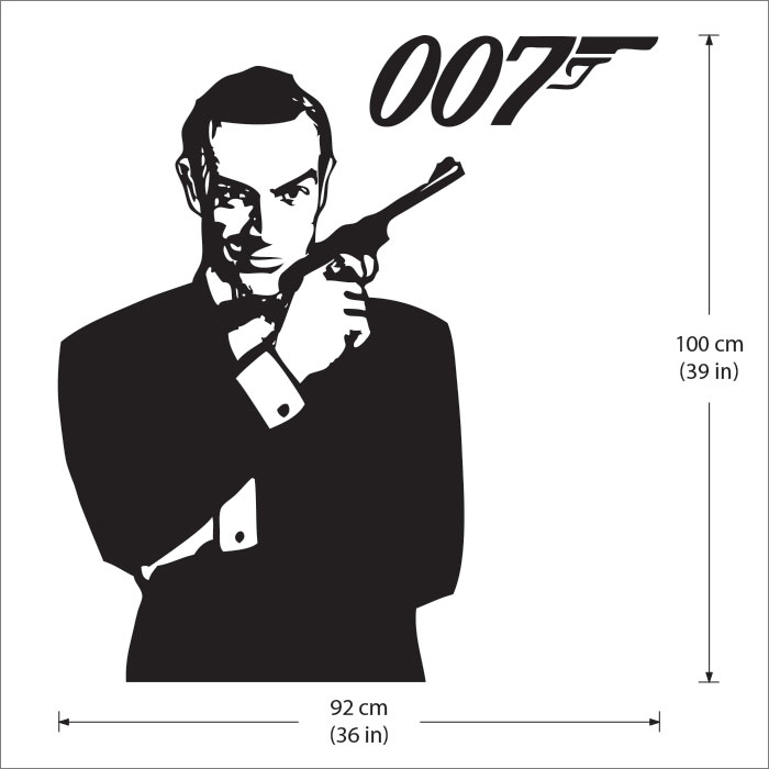 Wandtattoo Basketball James Bond 007 Wandaufkleber Wandtattoo