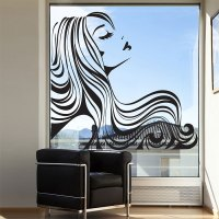 Girl beauty hair salon Vinyl Wall Art Decal