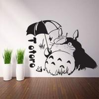 Totoro with Umbrella Vinyl Wall Art Decal