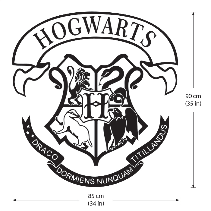 Griffoendor Harry Potter Hogwarts School Logo Harry Potter Vinyl Wall Art Decal