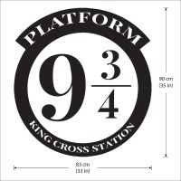 Platform 9 3/4 Harry Potter Vinyl Wall Art Decal