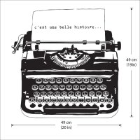 Vintage Typewriter Vinyl Wall Art Decal