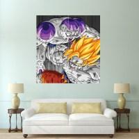 Dragon Ball Z Goku vs Frieza Block Giant Wall Art Poster