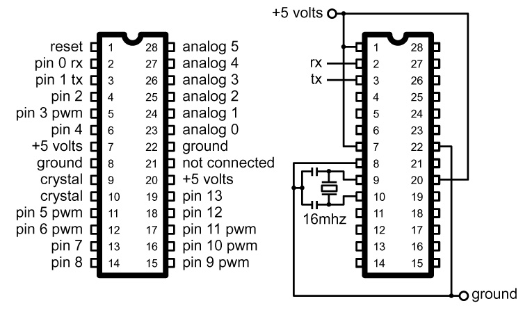 atmega328p wiring diagram