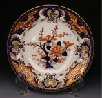 An Early 19th Century English Derby King's Pattern Imari Dinner Plate, Bloor Period, c.1815.