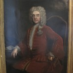 Huge Early 18th Century English Oil Portrait of an English Gentleman attributed to THOMAS HUDSON, c.1730