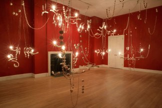 2009, porcelain, wire, paint, electrical hardware, 24'W x 17'D x 17'H