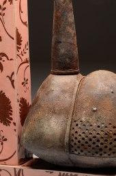 """26""""x20x8"""", stoneware, blackclay, glaze, decal, 2013"""