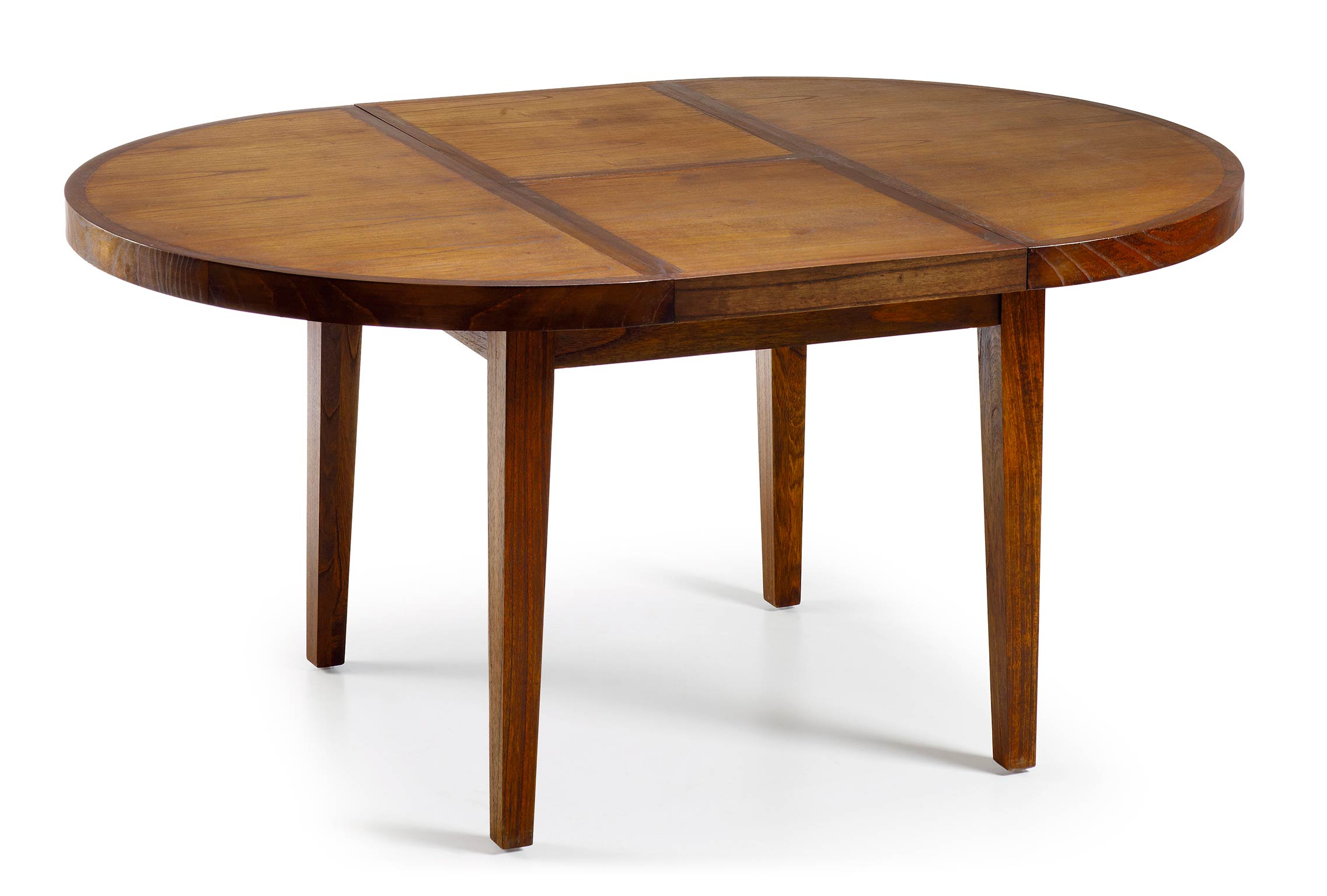 Table Ronde Allonges Table Ronde En Bois Avec Rallonge Portefeuille Collection Mawan
