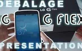 LG G Flex déballage