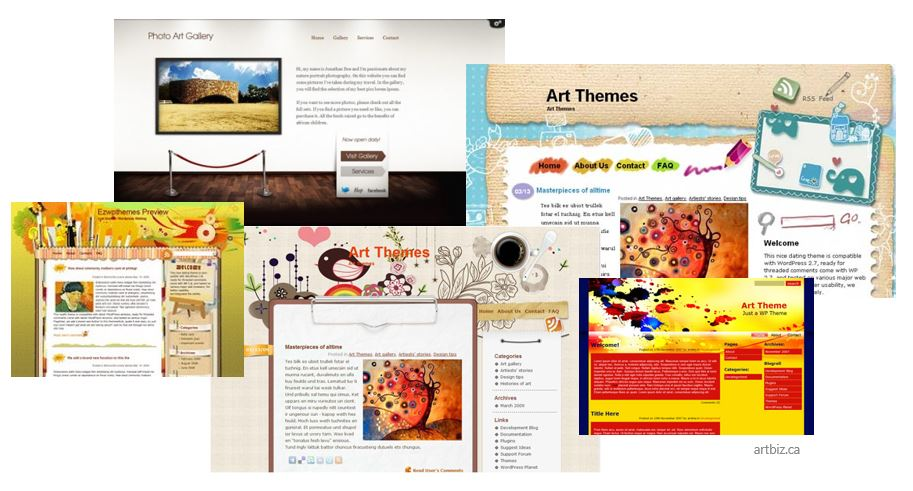 wordpress-art-themes - Websites and Blogs for Artists