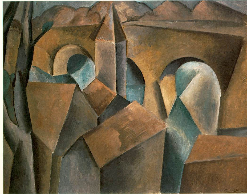 Cuadros Cubismo Picasso Landscape With Bridge