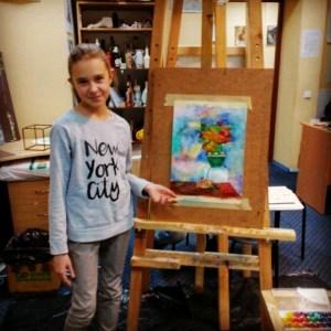 121- Алеся Пантелей 11 лет 3 мес, начинающий художник,, школьница