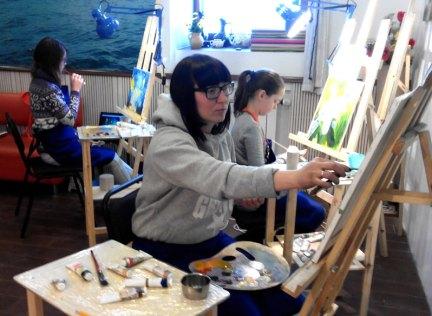 маслянная живопись для взрослых в студии ArtClass