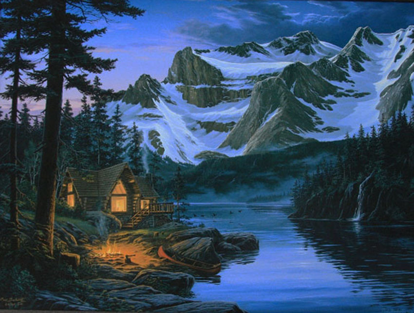 Fall Lake Wallpaper Art Country Canada Fred Buchwitz Secluded Paradise Rocky