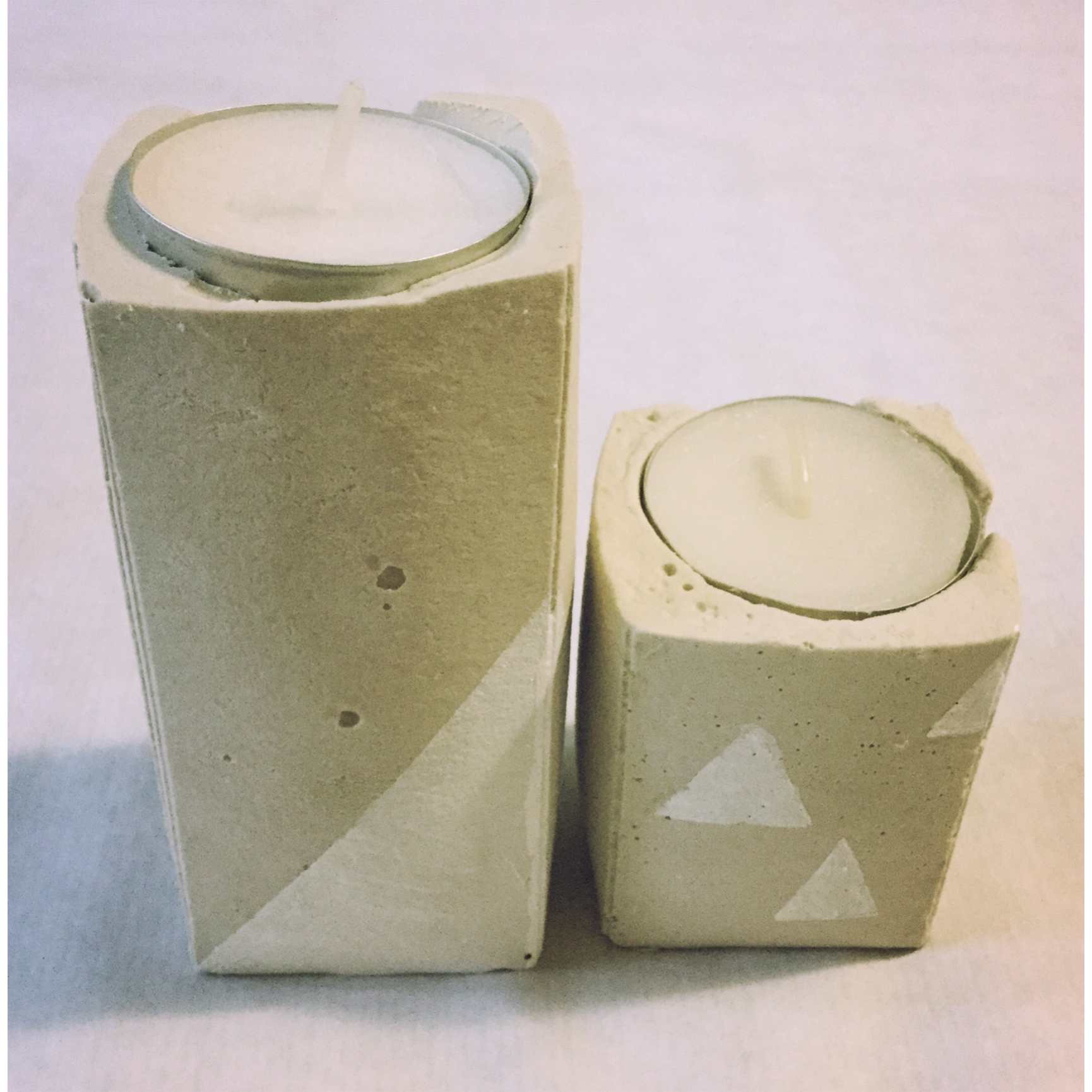 Beton Kerzenständer Diy Diy Candlestick Made Of Cement Artcreator The Dyi Blog For