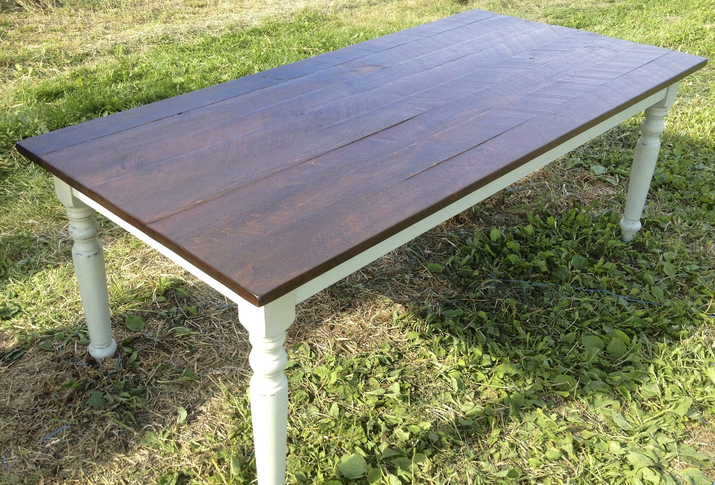 Pattes De Tables Table En Pin 38 Quotx78 Quot La Boite à Pin Teinture Finico Cognac